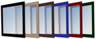 Window Frame Colors: Black, Camel, Brown, Blue, Red, Green